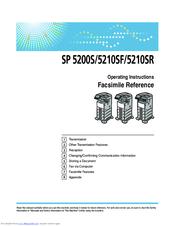 Ricoh Aficio SP 5210SR Manuals