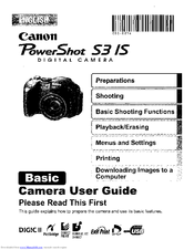 canon powershot s3 is manuals. Black Bedroom Furniture Sets. Home Design Ideas