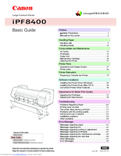 Canon imagePROGRAF iPF8400 Basic Manual