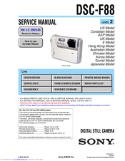 Sony DSC-F88 - Cyber-shot Digital Still Camera Service Manual