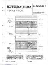 KENWOOD KAC-X401M SERVICE MANUAL Pdf Download. on
