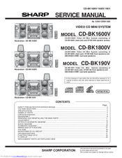 Sharp CD-BK1800V Service Manual