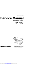 panasonic fp 7113 manuals rh manualslib com f&p iw812 service manual f&p ed56 service manual