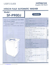 Hitachi SF-P90DJ User Manual