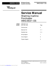 Whirlpool AWG 853 Service Manual