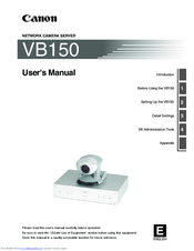 Canon VB150 User Manual