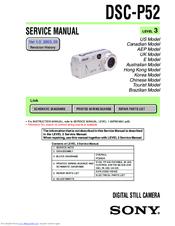 List of sony cyber-shot dsc-w55 user manuals, operating.