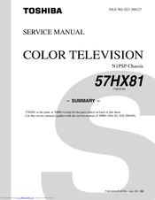 toshiba 57hx81 manuals rh manualslib com Toshiba Satellite Laptops Manual Toshiba Satellite Service Manual