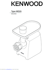Kenwood Type MG35 Instructions For Use Manual