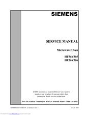 siemens hf36v305 manuals rh manualslib com Manual Book Parts Manual