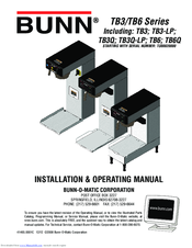 bunn tb6q manuals. Black Bedroom Furniture Sets. Home Design Ideas