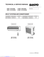 sanyo sap k121aha manuals Split System Air Conditioner Wall Mounted Air Conditioner