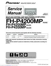 wiring diagram pioneer deh 815 pioneer fh p4200mp xu uc service manual pdf download  pioneer fh p4200mp xu uc service manual
