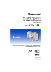 Panasonic Lumix DMC-TZ57 Operating Instructions Manual