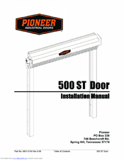 Pioneer 500 ST Installation Manual