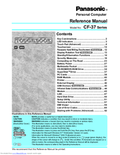 Panasonic CF-37 Series Reference Manual