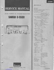 sansui g 5500 manuals rh manualslib com Sansui Speakers SP 3500 Review Sansui G 3500 Antenna