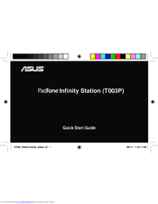 Asus Padfone Infinity Station Quick Start Manual