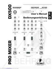 behringer promixer dx 500 manuals rh manualslib com behringer mixer manual pdf Behringer Xenyx 802 Mixer Setup
