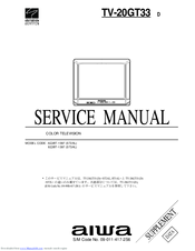 Aiwa TV-20GT33 Service Manual