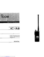 ICOM IC-A4 INSTRUCTION MANUAL Pdf Download