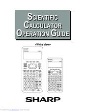 sharp writeview elw506x manuals rh manualslib com Old Sharp Calculators sharp financial calculator user manual