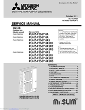 Mitsubishi Electric Mr Slim Puhz P250yha Manuals