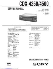 sony cdx 4250 service manual pdf download rh manualslib com Sony Car CD Player Wiring-Diagram Sony Wiring Harness Colors