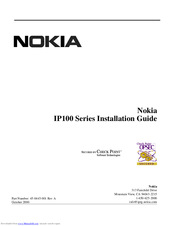 Nokia IP100 Series Installation Manual