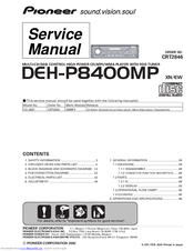 Pioneer DEH-P8400MP Service Manual