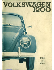 Volkswagen 1960 1200 Instruction Manual