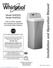 Whirlpool WHES33 Installation And Operation Manual