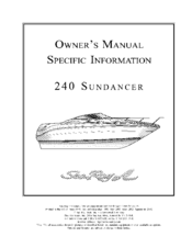 sea ray 240 sundancer owner's manual pdf download 1997 Sea Ray Sundancer Interior at Wiring Diagram 1997 Sea Ray Sundancer