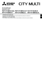 Mitsubishi Electric City Multi PEFY-P-NMHU-E-F Operation Manual