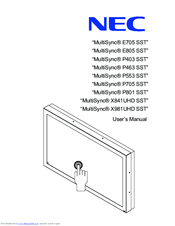 NEC MultiSync X841UHD User Manual