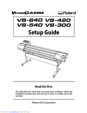 roland vs 540 manuals rh manualslib com roland versacamm vp-540i manual roland versacamm 540i manual