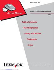 lexmark c77x c78x service manual