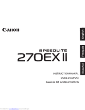 canon speedlite 270ex ii manuals rh manualslib com Wildgame Innovations Manuals Owner's Manual
