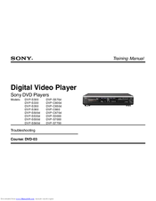 Sony DVP-S3000 Operating Instructions / Mode d'emploi Training Manual