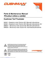 CUSHMAN TURF TRUCKSTER 84043 PARTS & MAINTENANCE MANUAL Pdf ... on