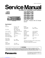 Panasonic cq-rdp383n user