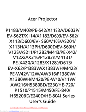 Acer D600D Series User Manual