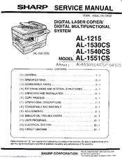 Sharp AL-1540CS Service Manual