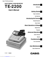 Casio TE-2200 User Manual