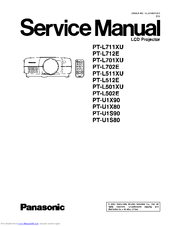 panasonic ptl711xu lcd projector manuals rh manualslib com panasonic lcd projector manual panasonic projector pt-ae4000 manual