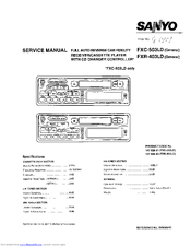 Sanyo FXC-503LD Service Manual