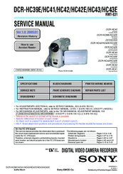 sony dcr hc42 manuals rh manualslib com Sony Handycam IR Light Sony Handycam Digital 8 Camcorder