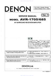 denon avr 1705 manuals rh manualslib com Denon AVR- 1910 Remote Control Denon AVR- 1910 Remote Control