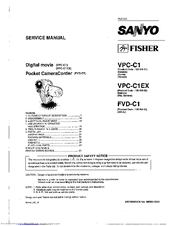 Sanyo FVDC1 - Fisher 3.2MP Digital Camercorder Service Manual