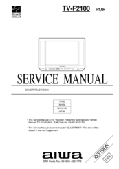 aiwa tv f2100 manuals rh manualslib com aiwa tv instruction manuals aiwa smart tv manual